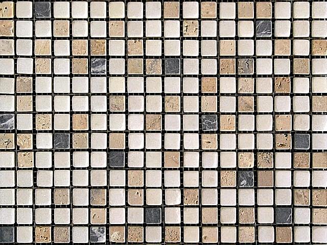 Мозаика из натурального травертина