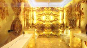 Оникс Onice Nuvolato в ванной