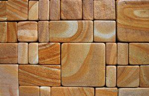 Брусчатка тротуарная галтованная из Луганского песчаника